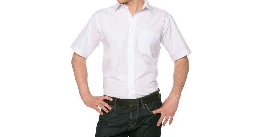 NO a las camisas de manga corta