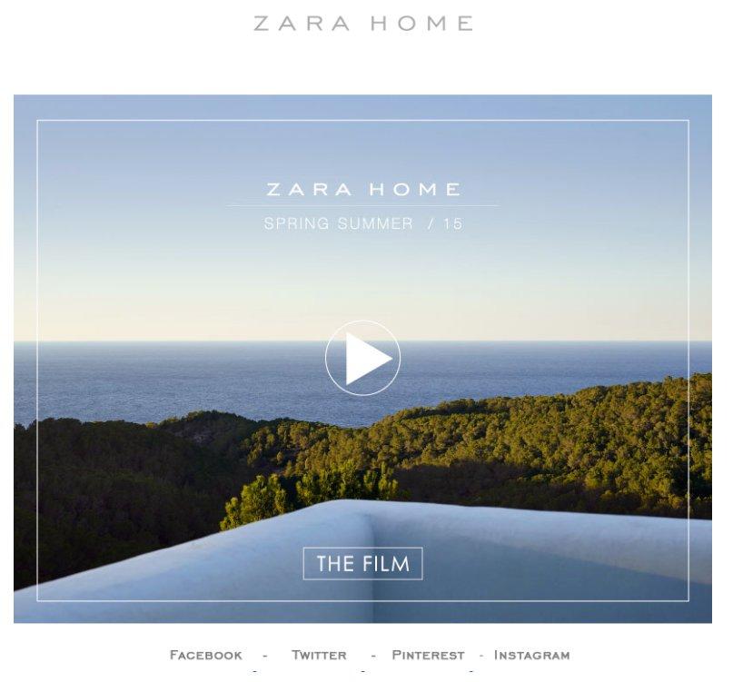 3 campañas de Email Marketing molonas: Zara Home