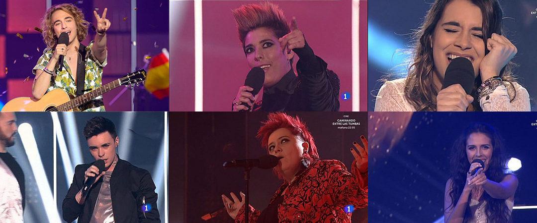 """ENCUESTA: ¿Qué te parecieron las 6 actuaciones de """"Objetivo Eurovisión""""?"""