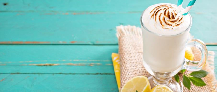 postres con pocas calorías: sorbete de leche merengada