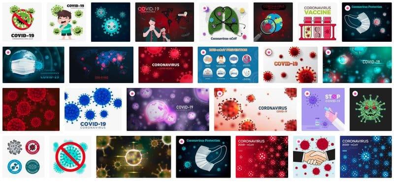 Recursos gráficos para informar del coronavirus de forma creativa: Vecteezy