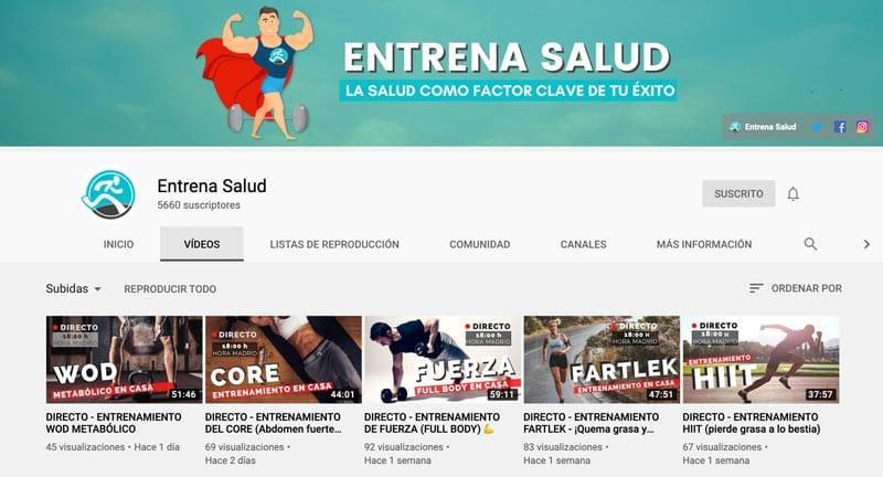 entrenador personal online: Entrena Salud
