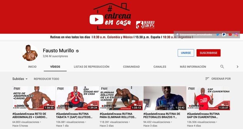 entrenador personal online: Fausto Murillo